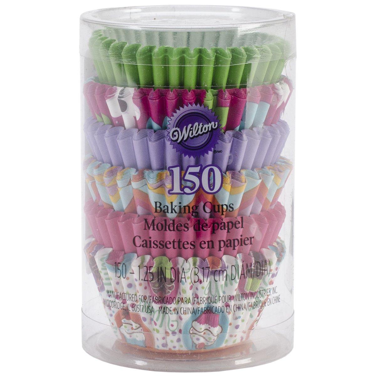 Wilton 415-2282 100 Count Unbleached Cherry Baking Cups, Mini