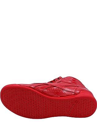 Amazon.com | Reebok Womens Freestyle Hi Patent Sneakers, Red, 7.5 | Walking