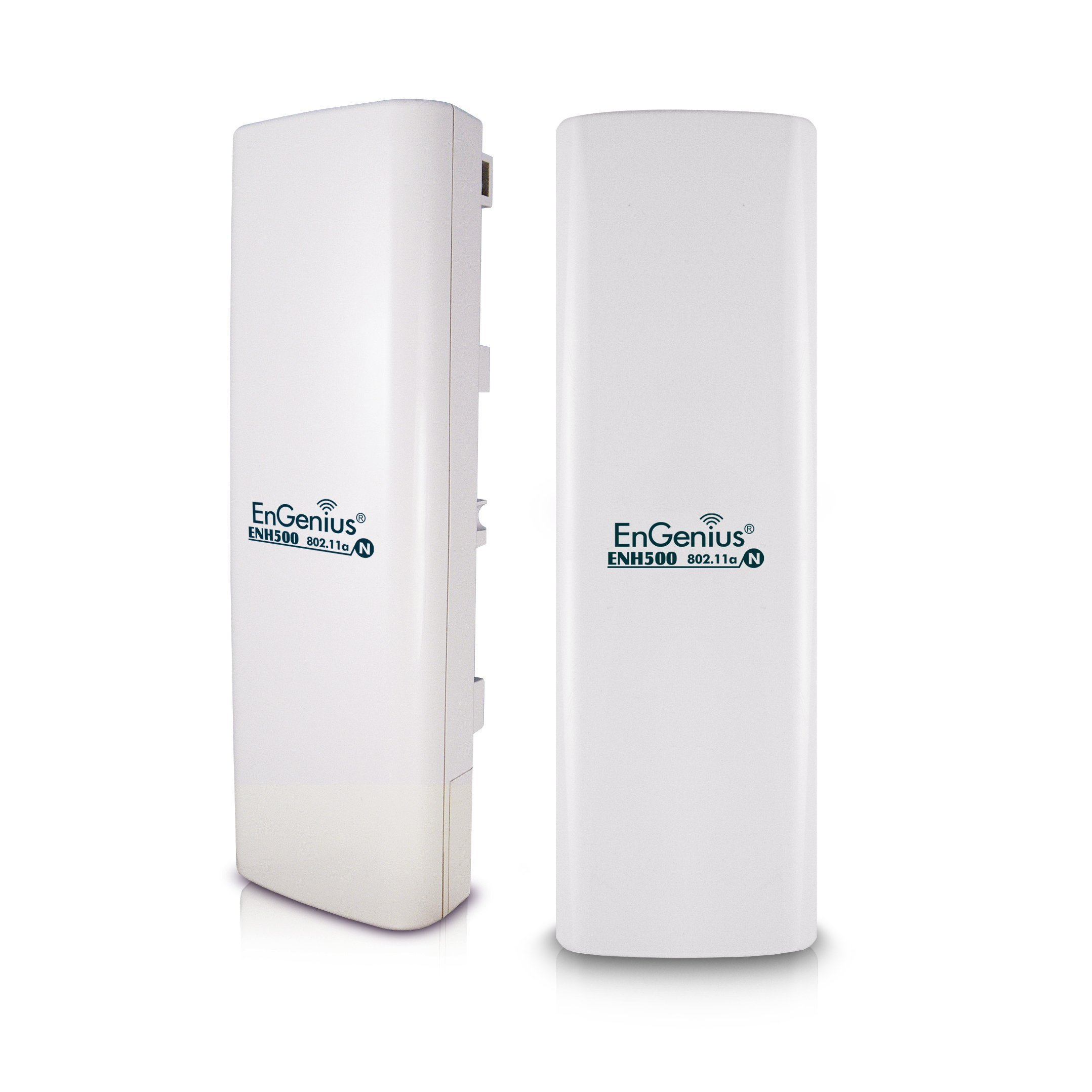 EnGenius 5GHz Wireless Outdoor AP/Client Bridge/CPE, directional antenna, long-range, point-to-point, IP65, 27dBm,13 dBi, [2-Pack] (N-ENH500 KIT) by EnGenius