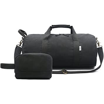 Small Overnight Bag Sports Gym Bag for Women and Men - Portable Canvas  Weekend Bag Holdalls 6051aa526a