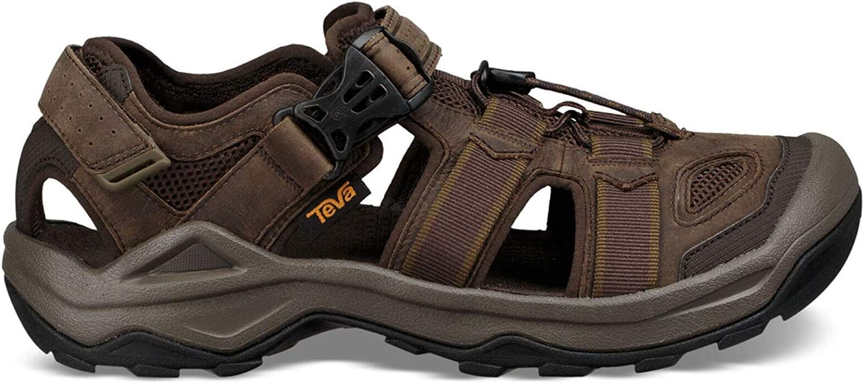 Teva Omnium 2 lederen Open teen sandalen voor heren: Amazon.nl