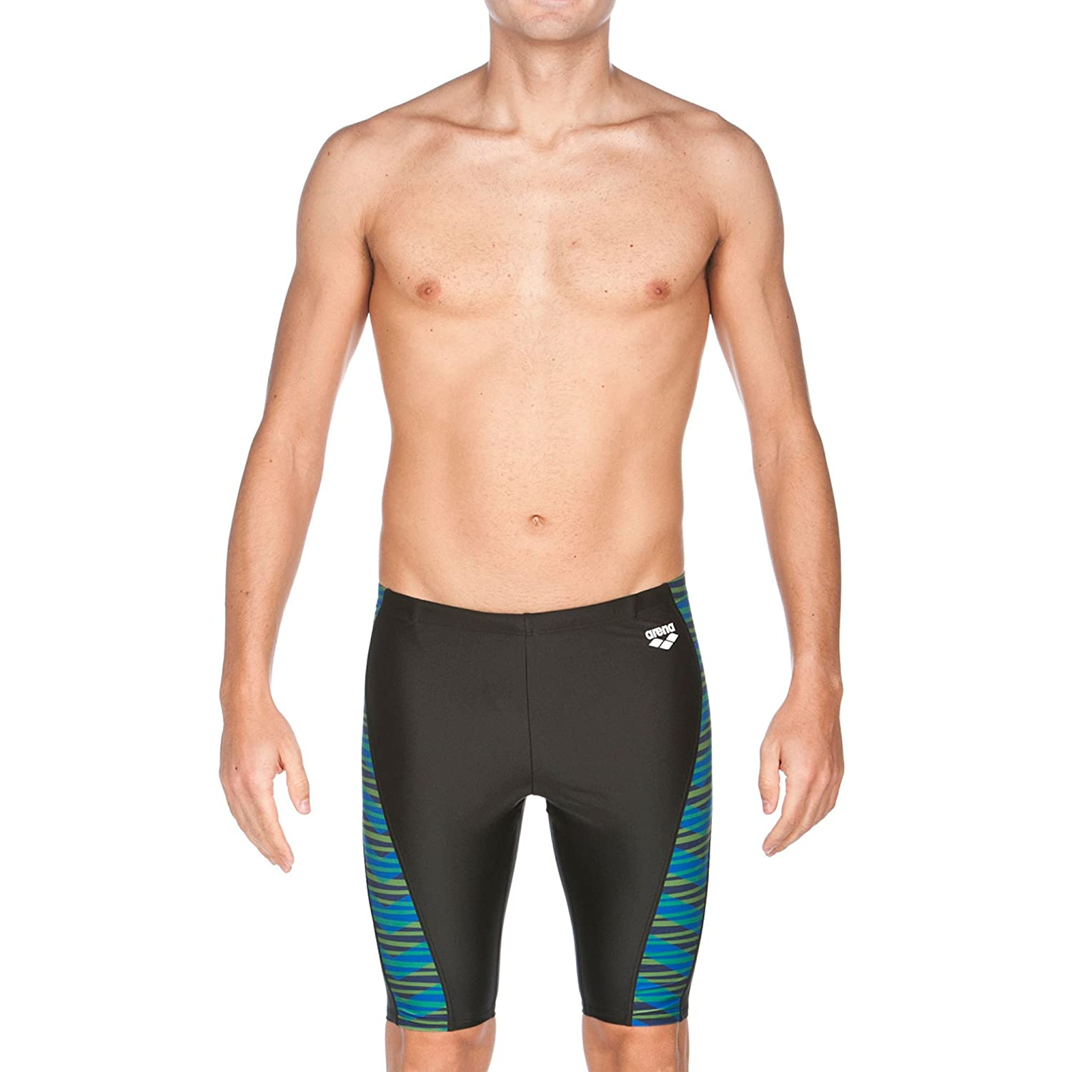 Arena Swim 2 a856メンズmimeticパネルJammer B0718XJ1TJ Black,danube_blue,multi 38 38|Black,danube_blue,multi