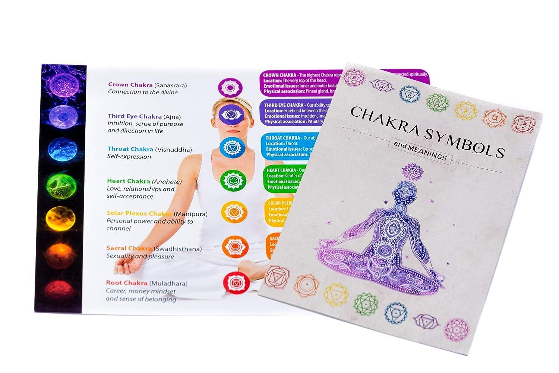 Chakra Bracelet en Pierre Naturelle Reiki Charme Avec la carte de signification chakra