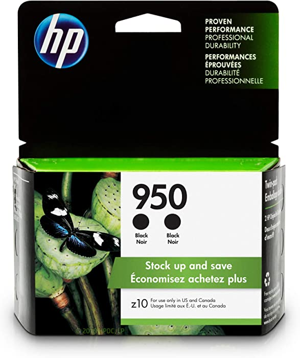 HP 950 | 2 Ink Cartridges | Black | CN049AN