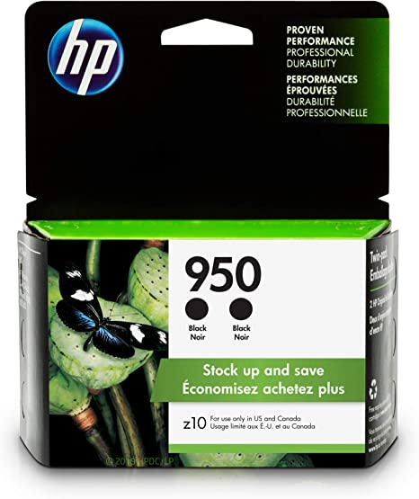 Amazon.com: HP 950, cartucho de tinta negra (CN049AN), 2 ...