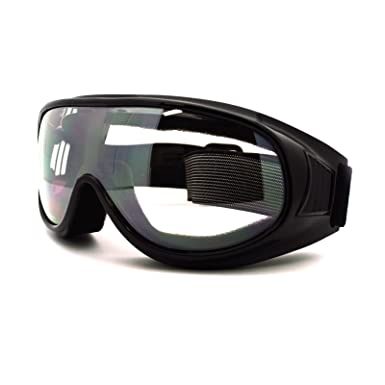 Ski Snowboard Sports Goggles Thin Smaller Frame Foam Padding Black ...