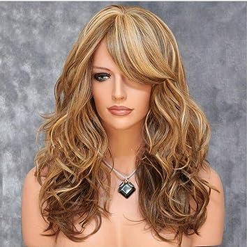 Fa Pelucas onduladas largas rizadas del Pelo de Brown de Las Mujeres, Pelucas llenas Resistentes