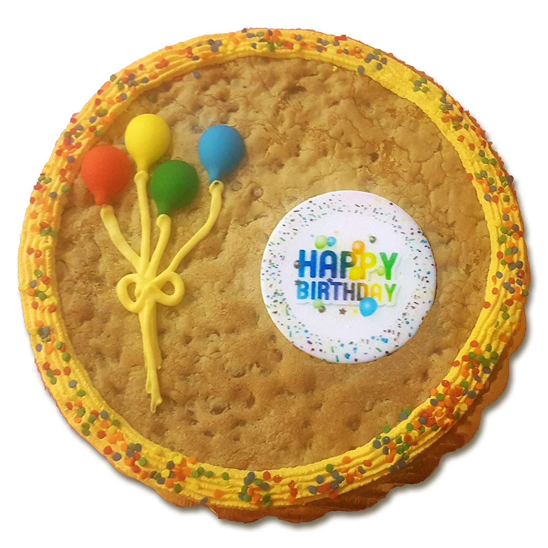 Fabulous Happy Birthday Cookie Cake Chocolate Chip Amazon Com Grocery Funny Birthday Cards Online Alyptdamsfinfo