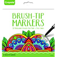 Crayola Brush Tip Makers, Adult Coloring, 32 Count