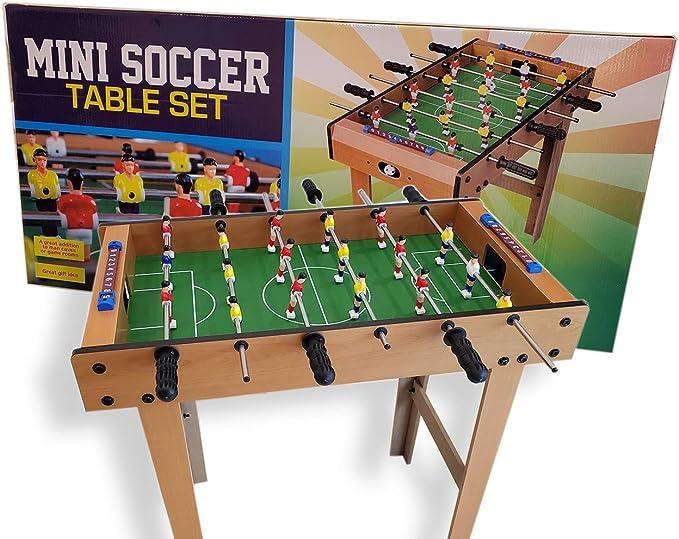 Pro Image - Juego de Mesa de futbolín (tamaño pequeño, 76,2 x 8,9 ...