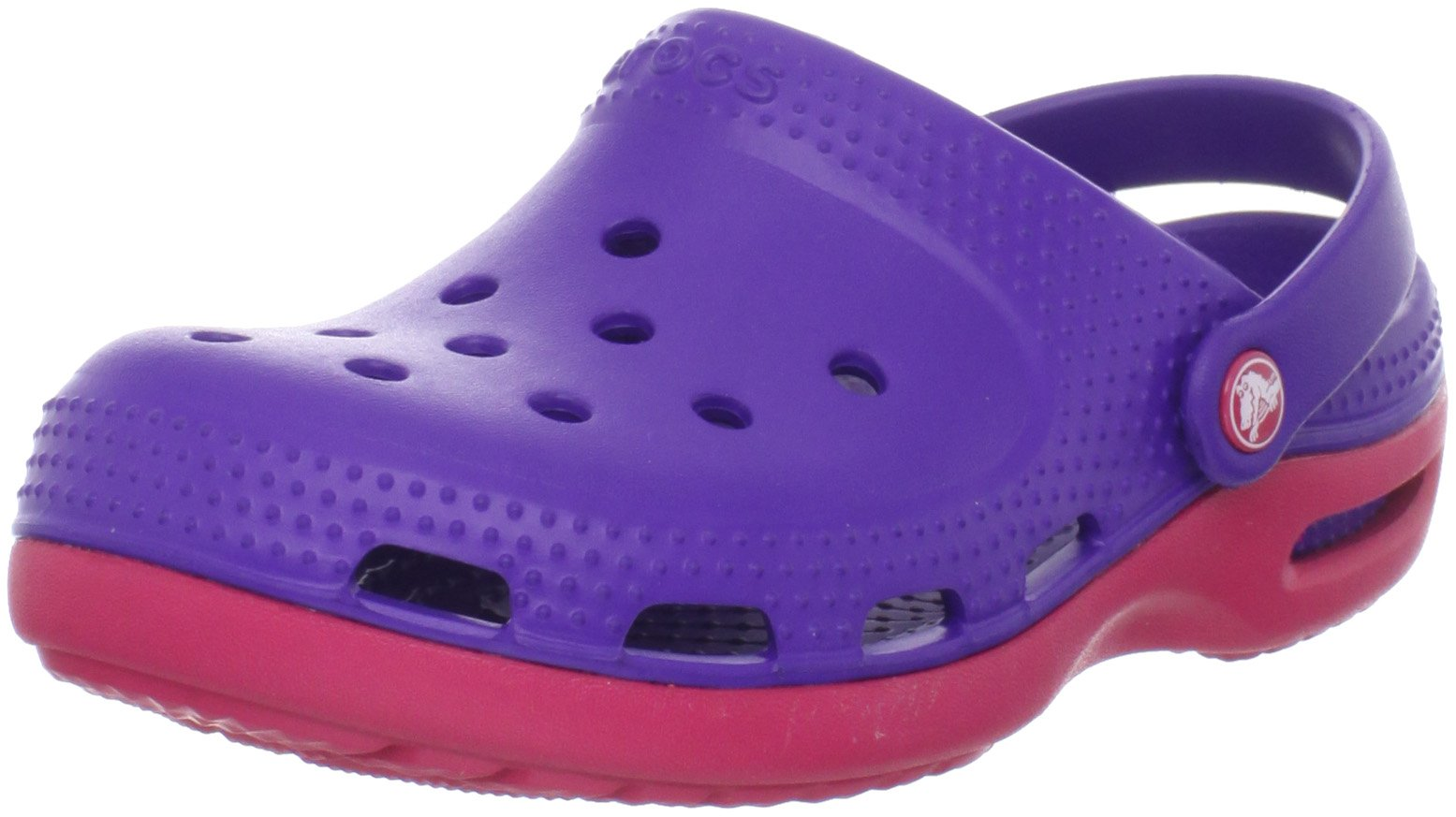 Crocs Duet Plus Mule (Toddler/Little Kid),Ultra Violet/Raspberry,2 M US Little Kid/ 4 M US Women's