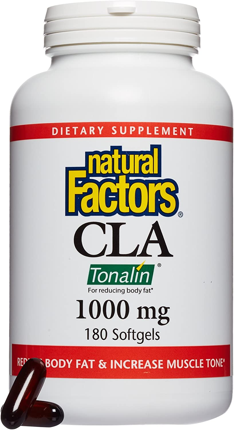 Natural Factors, CLA Tonalin 1000 mg, Supports Healthy Muscle Mass and Weight Management, 180 softgels 90 servings