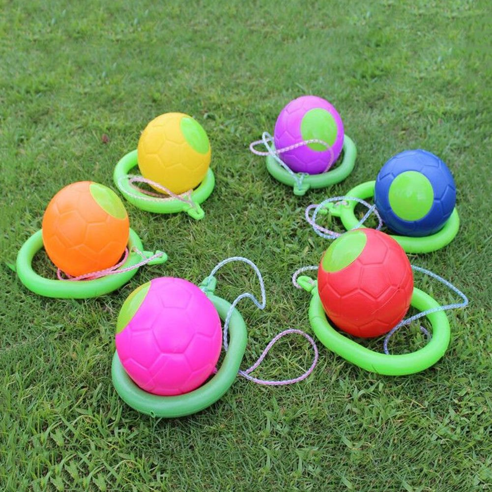 Skip Balls,Pack of 2 Ankle Foot Hopper Jumping Rope Toys,Playground Toy Skipping Rope Random Colour