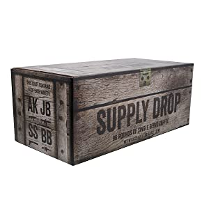 Black Rifle Coffee Company Complete Mission Fuel Kit Coffee Rounds for Single Serve Brewing Machines (96 Count) Assorted Roasts Coffee Pods Cups