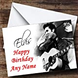 Elvis Presley Black & White Personalised Birthday Card