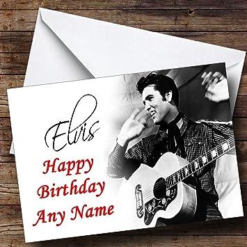 Elvis presley black white personalised birthday card amazon elvis presley black white personalised birthday card bookmarktalkfo Gallery