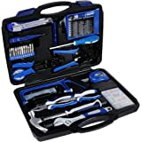 Rovtop 120 Pieces Repair Tool Kit, Professional General Household Tool Kit for Home Maintenance with Plastic Toolbox Storage Case