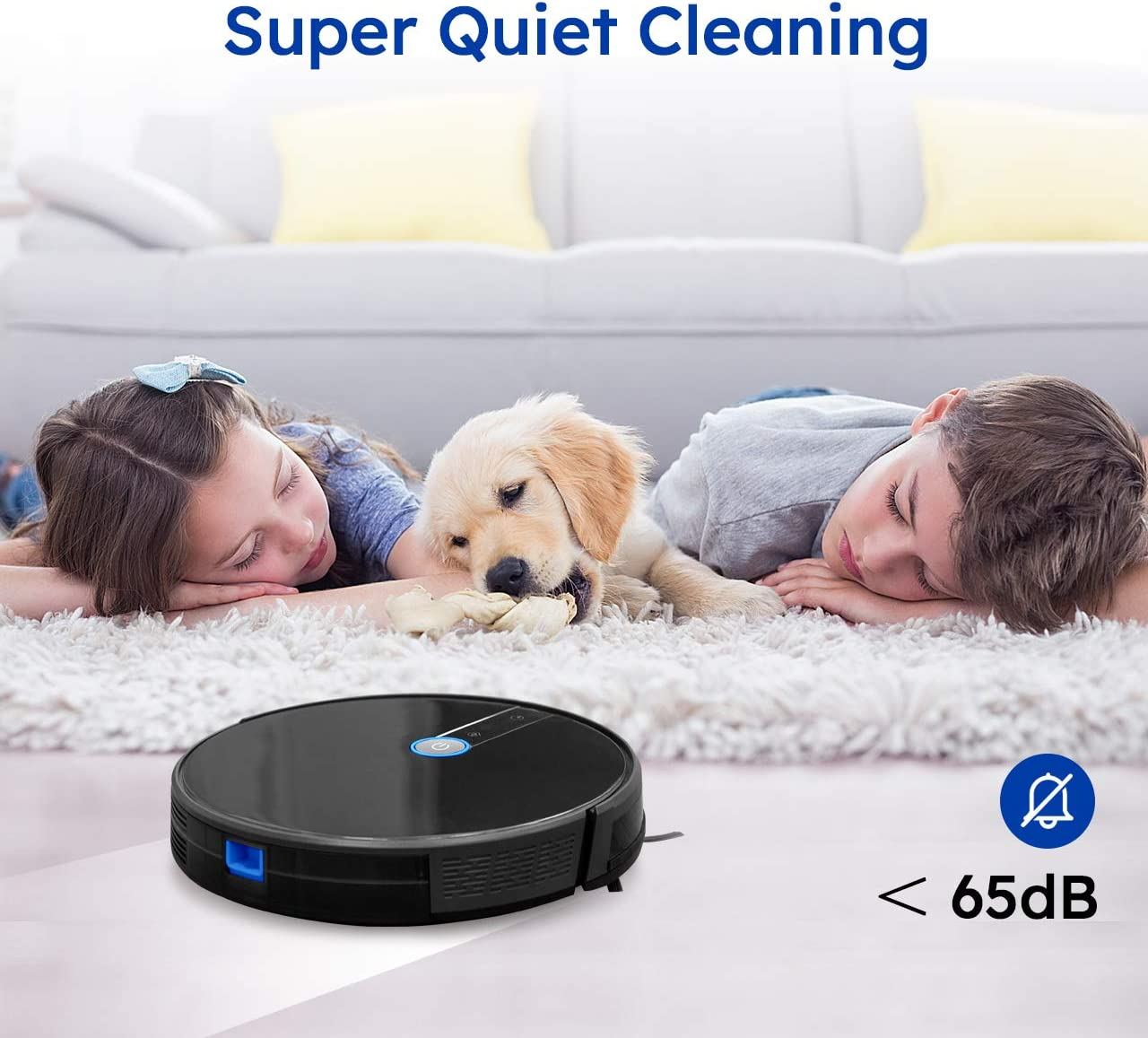 Carpet Vacmaster Robot Vacuum Cleaner 1800Pa Suction 2.9 Slim Quiet Automatic Smart Sensor Protection Hard Floor Self-Charge Robotic Vacuum with Smart Mapping High Performing for Pet Hair