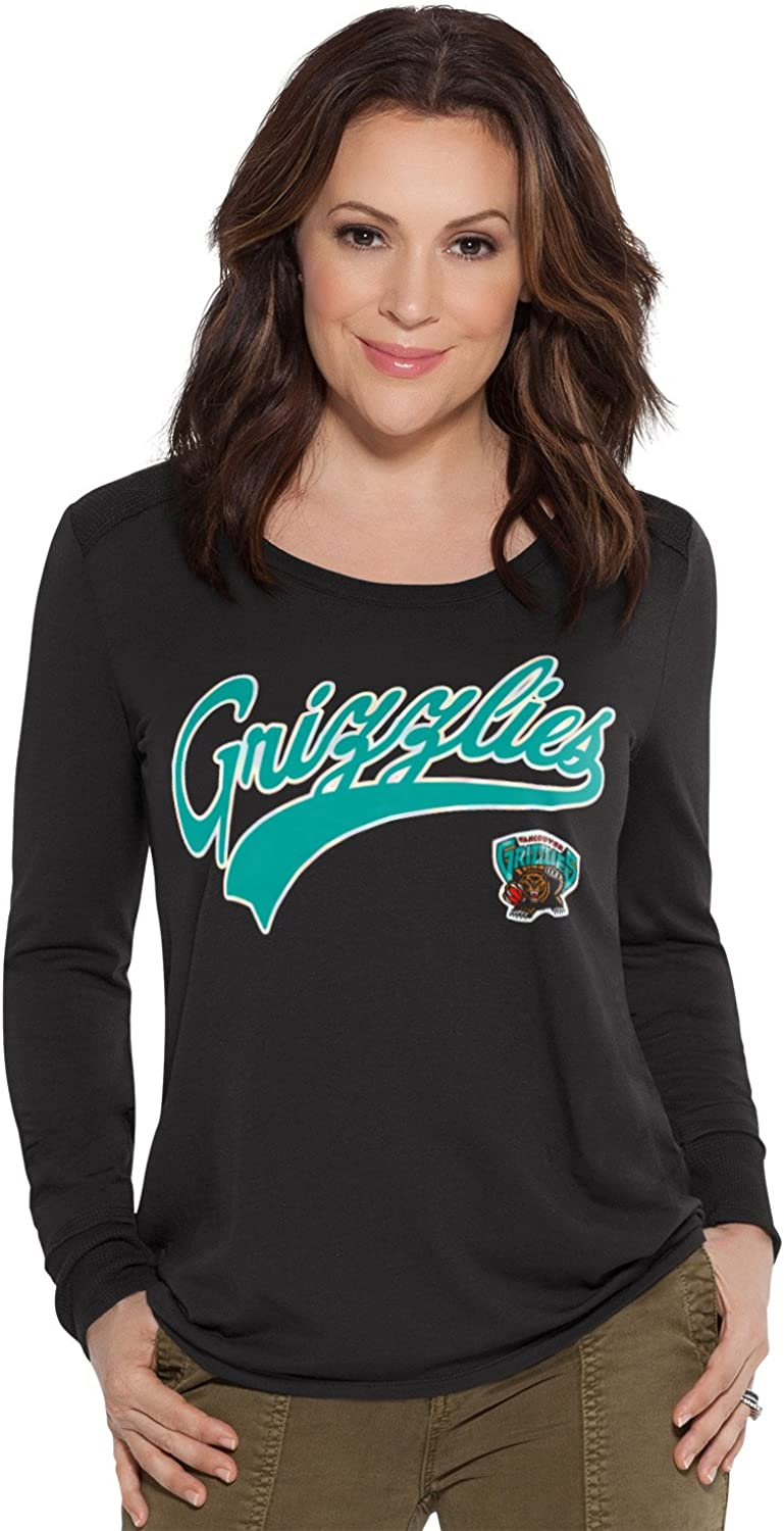 Large Touch by Alyssa Milano NBA Vancouver Grizzlies Adult Women Redzone Top Black