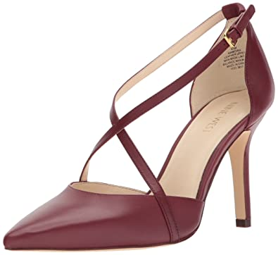 Nine West Women's Moira Leather, Wine Leather, ...