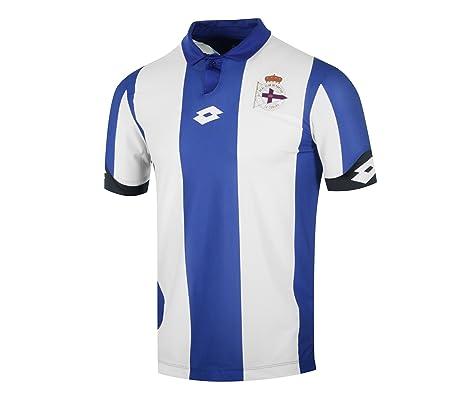 Lotto RC Deportivo de La Coruna Home 2016/2017 Camiseta, Hombre