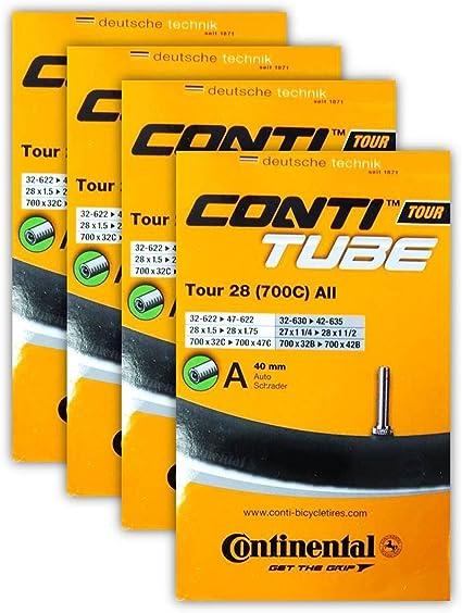 40mm Continental Tour 28 All Road Bike Inner Tube 700c x 32-47 Schrader