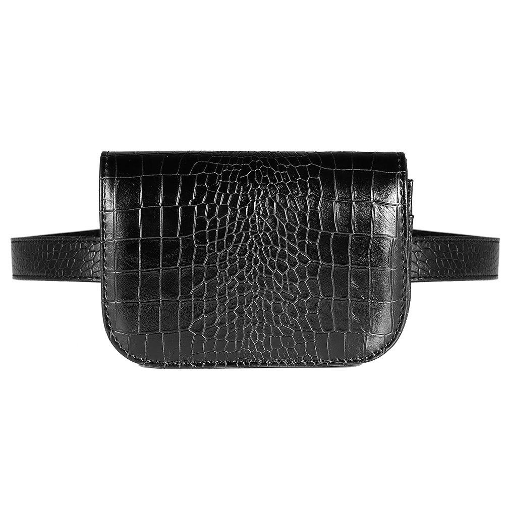 Vbiger PU Leather Waist Bag Chic Fanny Pack Fashionable Compact Waist Packs for Women