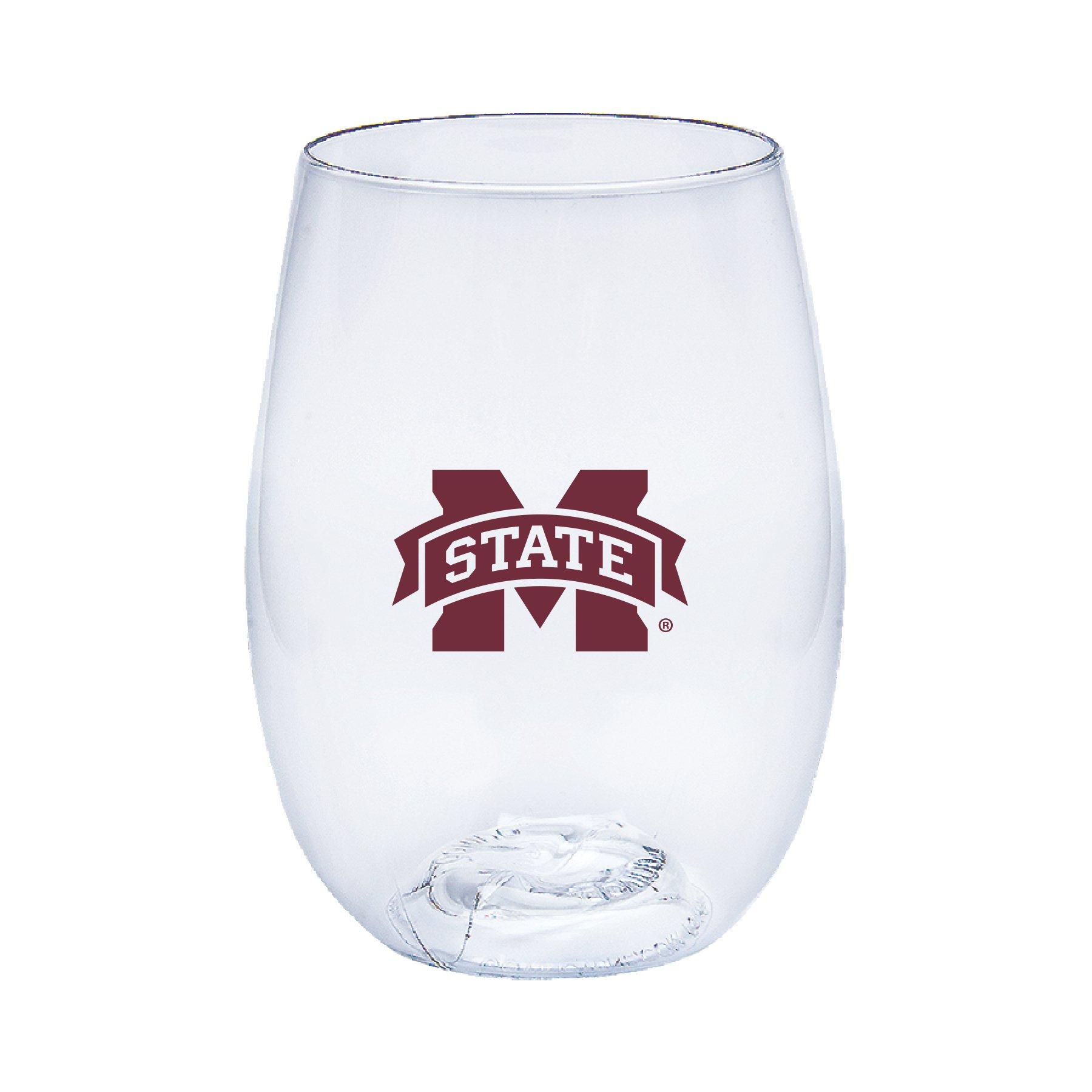 Neil Varsity Mississippi State Bulldogs Govino Shatterproof Wine or Beverage Glass