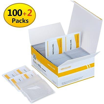 mosslian - Toallitas húmedas para limpiar pantallas y gafas, paquete de 100