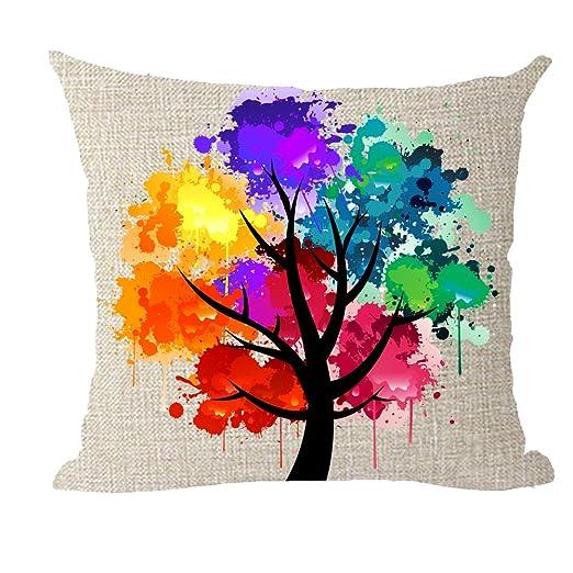 Bnitoam Pintura al Óleo Colorida árbol Agua Color Planta ...