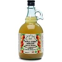 "Kent Apple Cider Vinegar 1 x 1L | with""Mother"" | Raw | Unpasturised | Unfiltered | GMO Free"