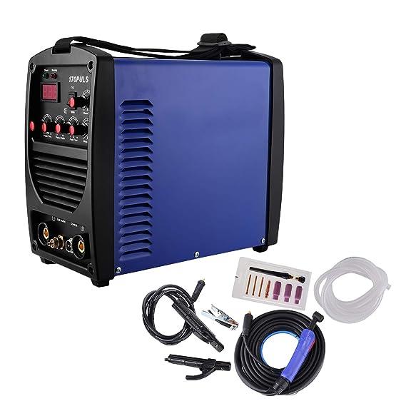 chrisun soldadura Tig Arc MMA 170 Amp soldadura máquina vara máscara Inverter Pulse HF arranque Kit: Amazon.es: Bricolaje y herramientas