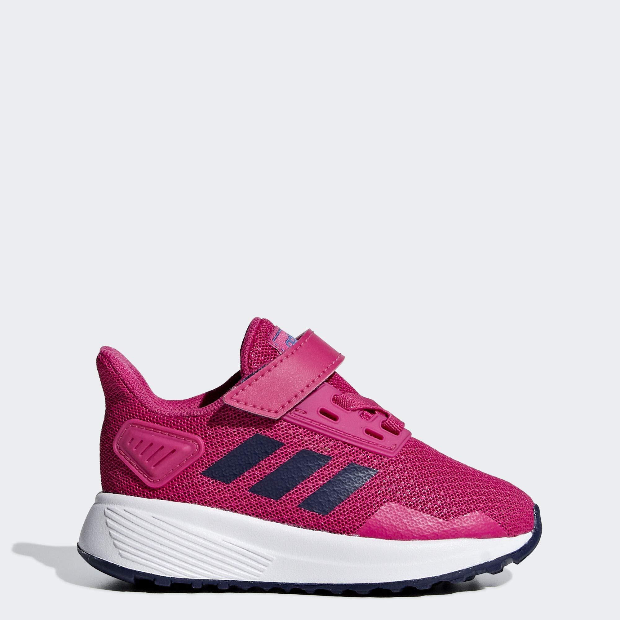 adidas Baby Duramo 9 Shoes, White/Real Magenta/Dark Blue, 9K M US Toddler by adidas
