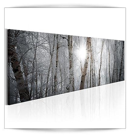 decomonkey Bilder Wald 120x40 cm 1 Teilig Leinwandbilder Bild auf ...