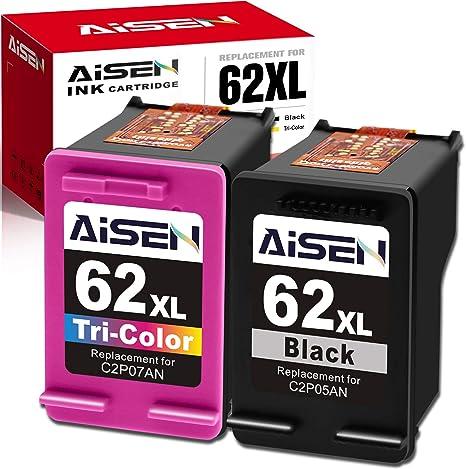 Amazon.com: AISEN - Cartucho de tinta remanufacturado HP 62 ...