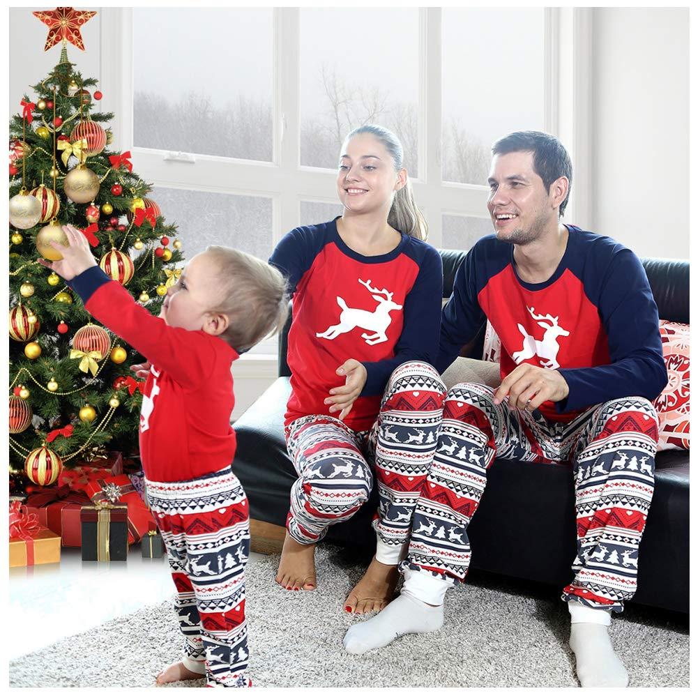 BOBORA Family Matching Pajamas, Christmas Deer Pjs Set Sleepwear Nightwear infant-and-toddler-pajama-sets