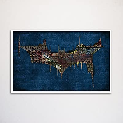 Batman Dark Knight word art print -11x17\