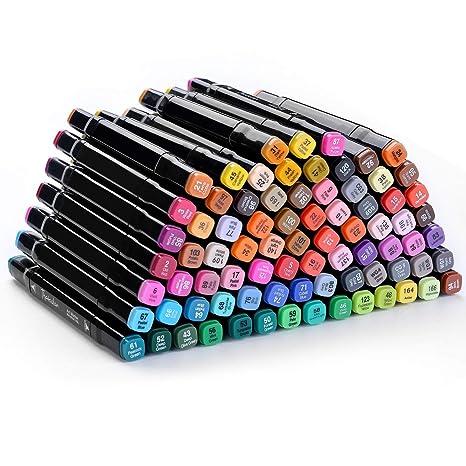 Dibujo Artístico Marcador Pen -80 Colores Consejo Dual Twin ...