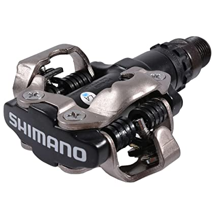 Bike Pedal Clips >> Amazon Com Shimano Pd M520l Clipless Bike Pedals 9 16in Sports