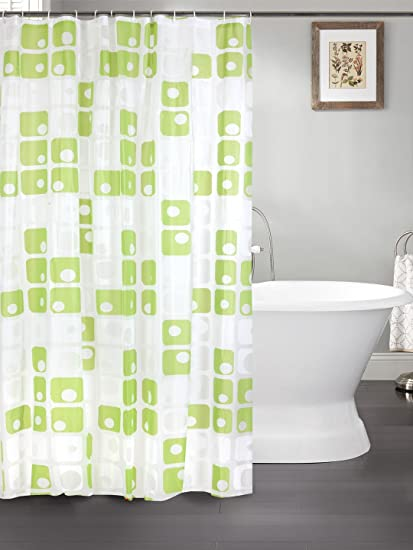 Cortina PVC Shower Curtain (Width-70 Inches X Height-78 Inches) 7 ...