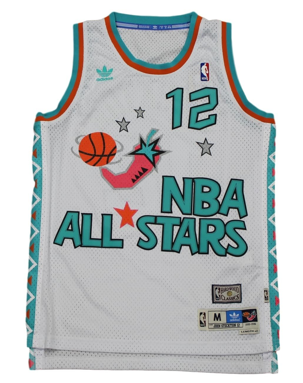 brand new 6e66d 463fc Utah Jazz John Stockton 1996 All Star Adidas Swingman Jersey