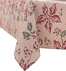 Food Network Ribbed Winter Garden Floral Tablecloth Fabric Table Cloth 60x120