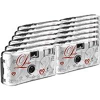 TopShot Lot de 12 appareils photo jetables pour 27 photos avec flash (Blanc)
