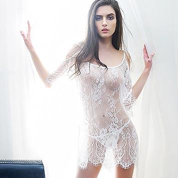 YMXLQQLencería sexy Encaje de lencería sexy incluso pijama muy sexy pijama querida falda lencería sexy transparente