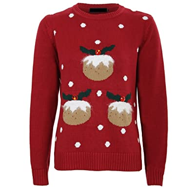Pudding Christmas Soft Christmas Pudding Noel Xmas Jumper Taille 36-44