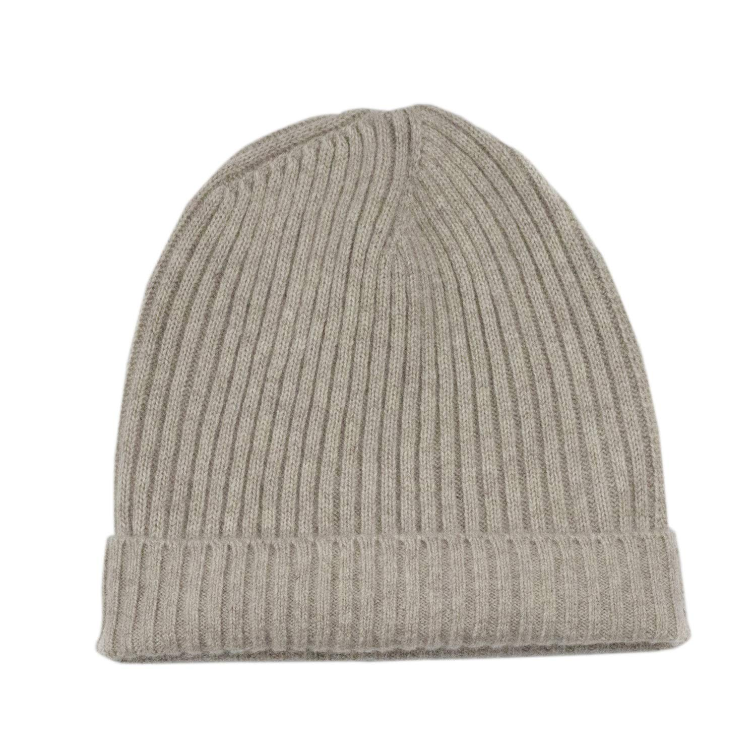 fe2bb4537 Pure 100% Cashmere Beanie for Men, Warm Soft Mens Cashmere Hat SKU