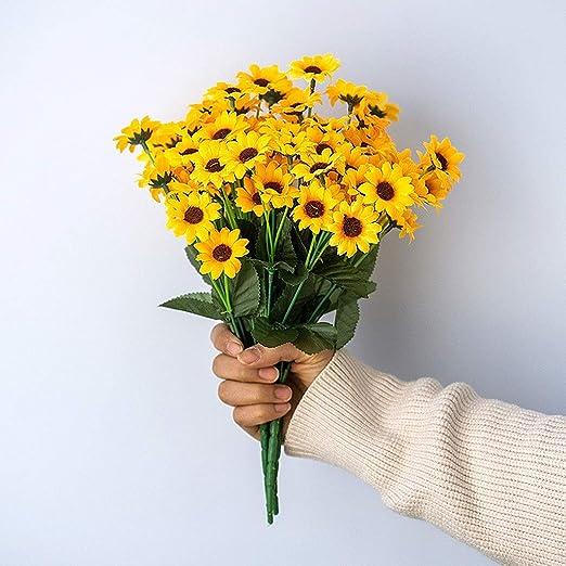 3-12 unids Artificial Girasoles Paquetes de Flores Falsas ...