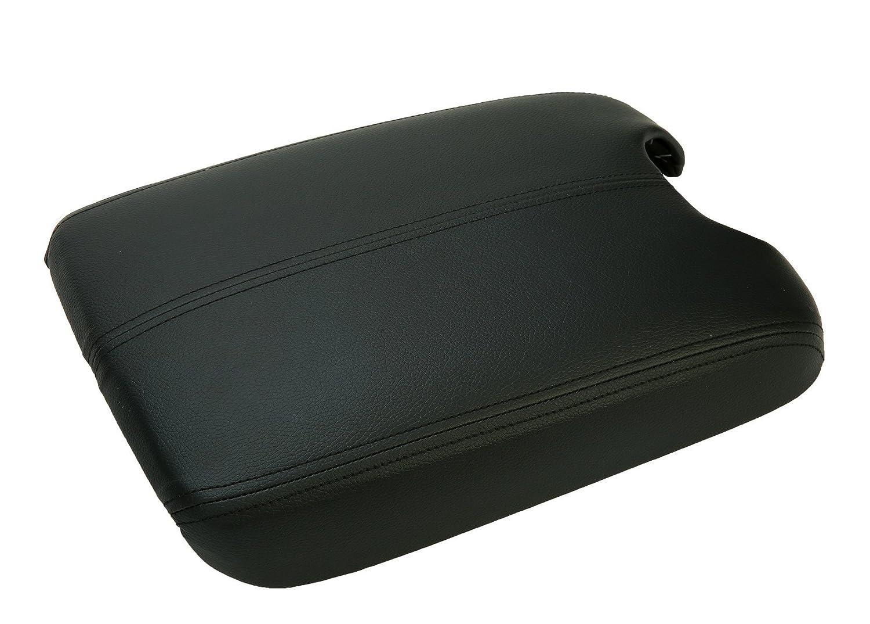 Vinyl 8milelake Center Console Lid Armrest Cover for 2008 2009 2010 2011 2012 HONDA ACCORD Synthetic Leather Plastic Black