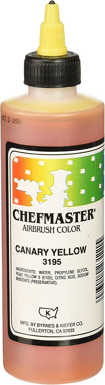 Chefmaster Airbrush Spray Food Color, 9-Ounce, Canary Yellow