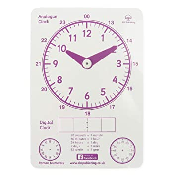 Learn to Tell The Time Clock for Teaching Time - Premium Quality  Educational Kids Clock for Telling Time Made by Teacher for Children KS1  NLS Phase 2